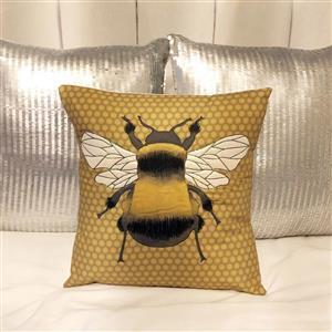 Delphine Brooks' Mustard Bee Cushion Kit: Instructions & Fabric Panel