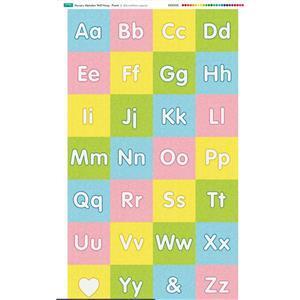 Nursery Wall Hang Alphabet Pastels Fabric Panel 70x116cm