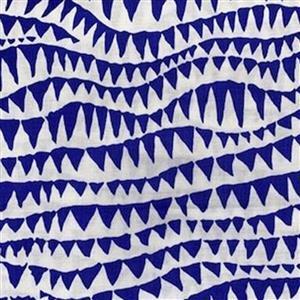Kaffe Fassett Collective Shark Teeth in Cobalt Fabric 0.5m