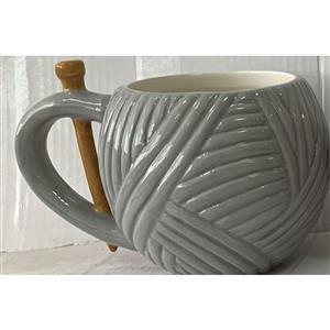 Grey Yarn Mug