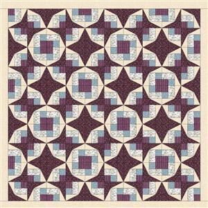 Sally Stevens Summer Stars Rectangle Quilt Kit: Instructions & Michael Millar Fabric (7.5m)