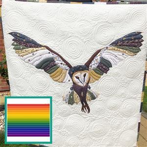 Delphine Brooks' Rainbow Owl Wall Hanging Kit: Instructions, Fabric Panel, FQ & Fabric (1m)