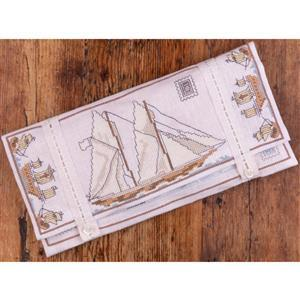 The Cross Stitch Guild A Travellers' Stitching Pocket Kit On Aida