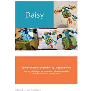 Delphine Brooks' Daisy Dairy Cow Applique Cushion Instructions