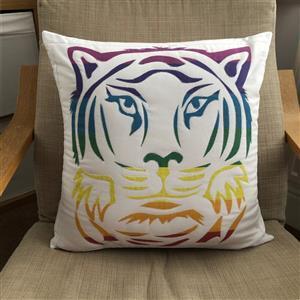 Delphine Brooks' Applique Tiger Cushion Kit - Instructions, Panel & Fabric (0.5m)