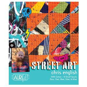 Aurifil Chris English Street Art Thread Set 10 Spools. Signed