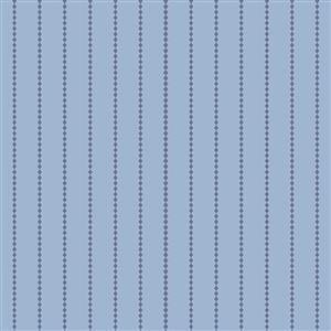 Riley Blake Poppy & Posey Periwinkle Stripey Fabric 0.5m