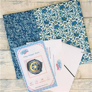 Living in Loveliness Hilary Hexagon Stacking Trays Kit Blue; includes 2 x 0.5m Liberty Fabrics