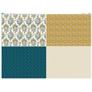 Copen Summer 4 FQ's Fabric Panel 1 - 140 x 105cm Exclusive