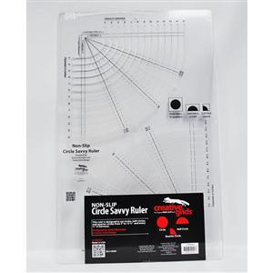 Creative Grids® Non-Slip Circle Savvy Slotted Ruler