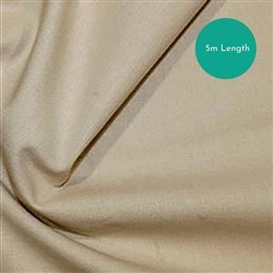 100% Cotton Fabric Beige Backing Bundle (5m). Save £1.50