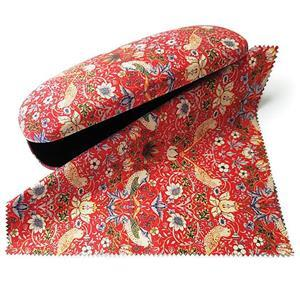 William Morris Strawberry Thief Red Glasses Case