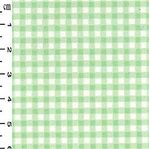 Mint Checks on White Gingham Cotton Poplin Fabric 0.5m
