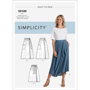 Misses' Wrap Skirts Pattern 6-14