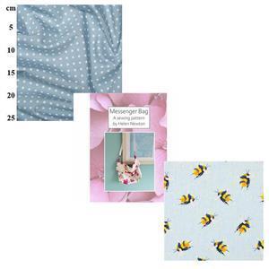 Bumblebee Helen Newton's Messenger Tote Bag Kit, Instructions, Fabric (1.5m)