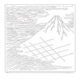 Hana-fukin Mount Fuji Ukiyoe White Fabric Pack