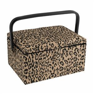Hobby Gift Medium Leopard Design Sewing Box