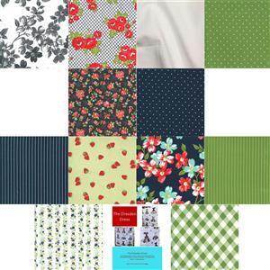 Delphine Brooks Green Moda Sunday Stroll Quilt Kit: Instructions & Fabric (6.5m).