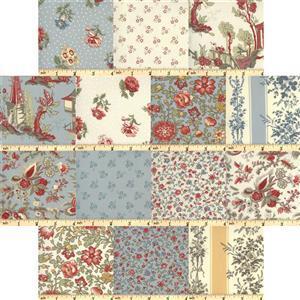 Moda Jardin De Fleurs Fabric Bundle (7m) with 0.5m Free! Save £7.49