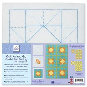 Quilt As You Go - Rolling Stone Pre-printed Wadding 100% Polyester