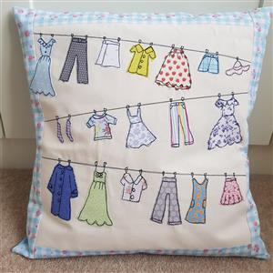 Helen Newton's Washing Line Cushion Kit, Instructions, Fabric Panel, FQ & Fabric (0.5m)