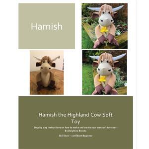 Delphine Brooks Highland Cow Toy Instructions