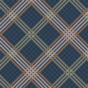 Lewis & Irene Loch Lewis Tartan On Teal Fabric 0.5m