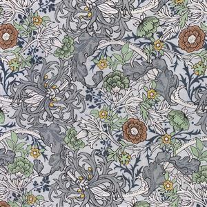 Country Floral Wild Side on Light Blue Fabric 0.5m Exclusive