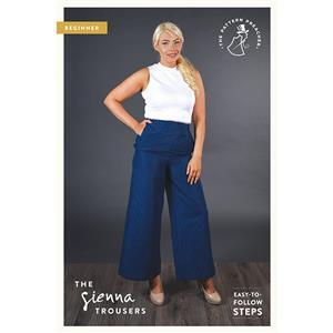 The Pattern Preacher Sienna Trousers Pattern. Sizes 6-20
