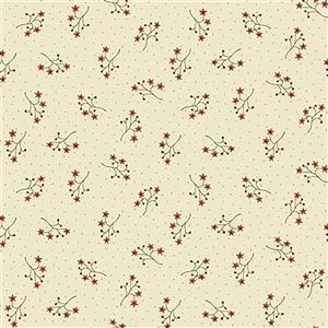 Anni Down On the 12th Starflower Spring Cream Fabric 0.5m