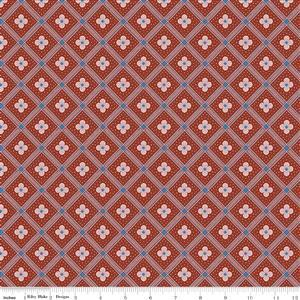 Liberty Summer House Collection in Red Manor Tile Fabric 0.5m