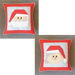 Victoria Peat's Mr & Mrs Clause FPP Duo Christmas Cushion Kit
