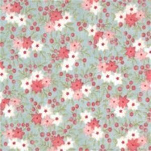Moda Sanctuary in Green Daisy Field Fabric 0.5m