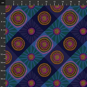 Anna Maria Horner Bright Eyes in Cosmas Ocean Fabric 0.5m