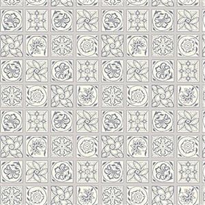 Liberty Emporium Collection Tudor Argyll Tile Grey Fabric 0.5m