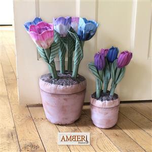 Amber Makes Terracotta Flowerpots Kit: Instructions & Panel (140 x 99cm)