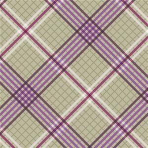 Lewis & Irene Loch Lewis Tartan On Green Fabric 0.5m