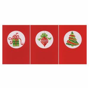 Christmas Counted Cross Stitch Greeting Cards Kit Pack of 3