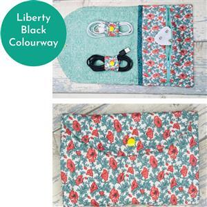 Living in Loveliness Wendy Wire Clutch - Liberty Black