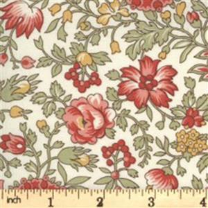 Moda Jardin De Fleurs in Cream Budding Fabric 0.5m