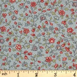 Moda Jardin De Fleurs in Gray Blossom Fabric 0.5m