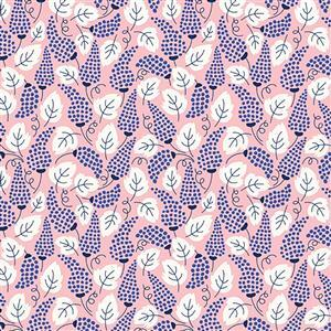 Riley Blake Meadow Lane Pink Feather Fabric 0.5m