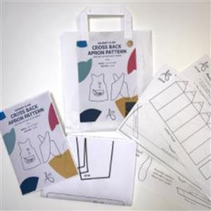 Allison Maryon's Mummy & Me Cross Back Apron Pattern with Free Pocket Templates