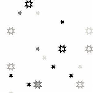 Libs Elliot Stealth Stars on White Fabric 0.5m