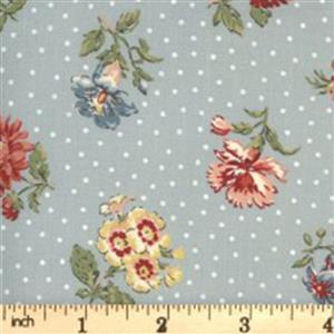 Moda Jardin De Fleurs in Gray Rose Fabric 0.5m