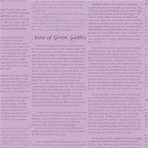 Riley Blake Anne of Green Gables Periwinkle Literature Fabric 13.7m Bolt
