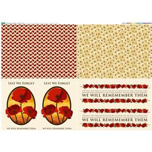 Remembrance 2020 Fat Quarter Fabric Panel 104x104cm