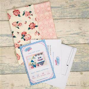 Living in Loveliness Sewn with Scraps Issue 5 Banner and Bunting - Liberty Pink