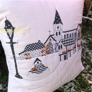Delphine Brooks Tudor Monochrome Cushion Kit, Instructions, Fabric Panel & Fabric (0.5m)