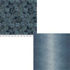 Dark Blue Ocean Depths Fabric Bundle (1m)